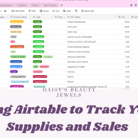Using Airtable to Track Your Supplies and Sales. My Organizing System